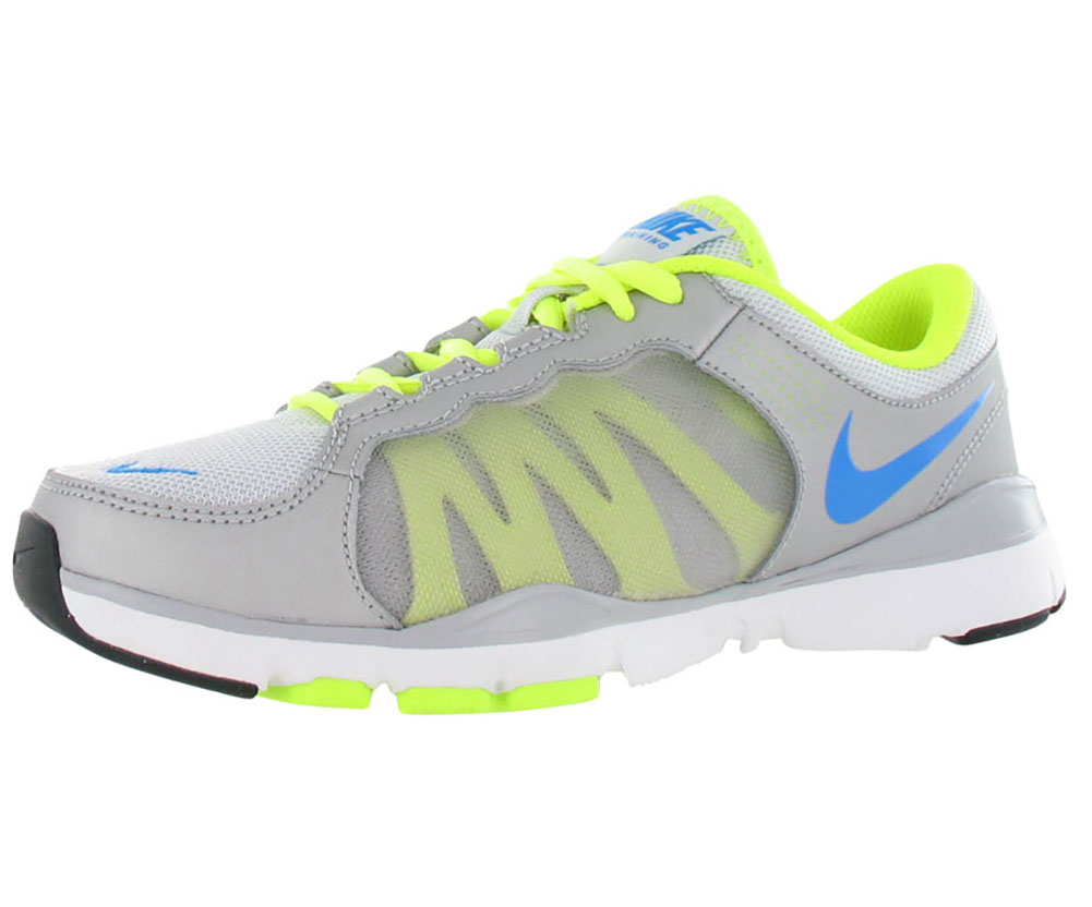 Nike Flex Trainer 2 Womens Shoes Gray/neon/blue Size