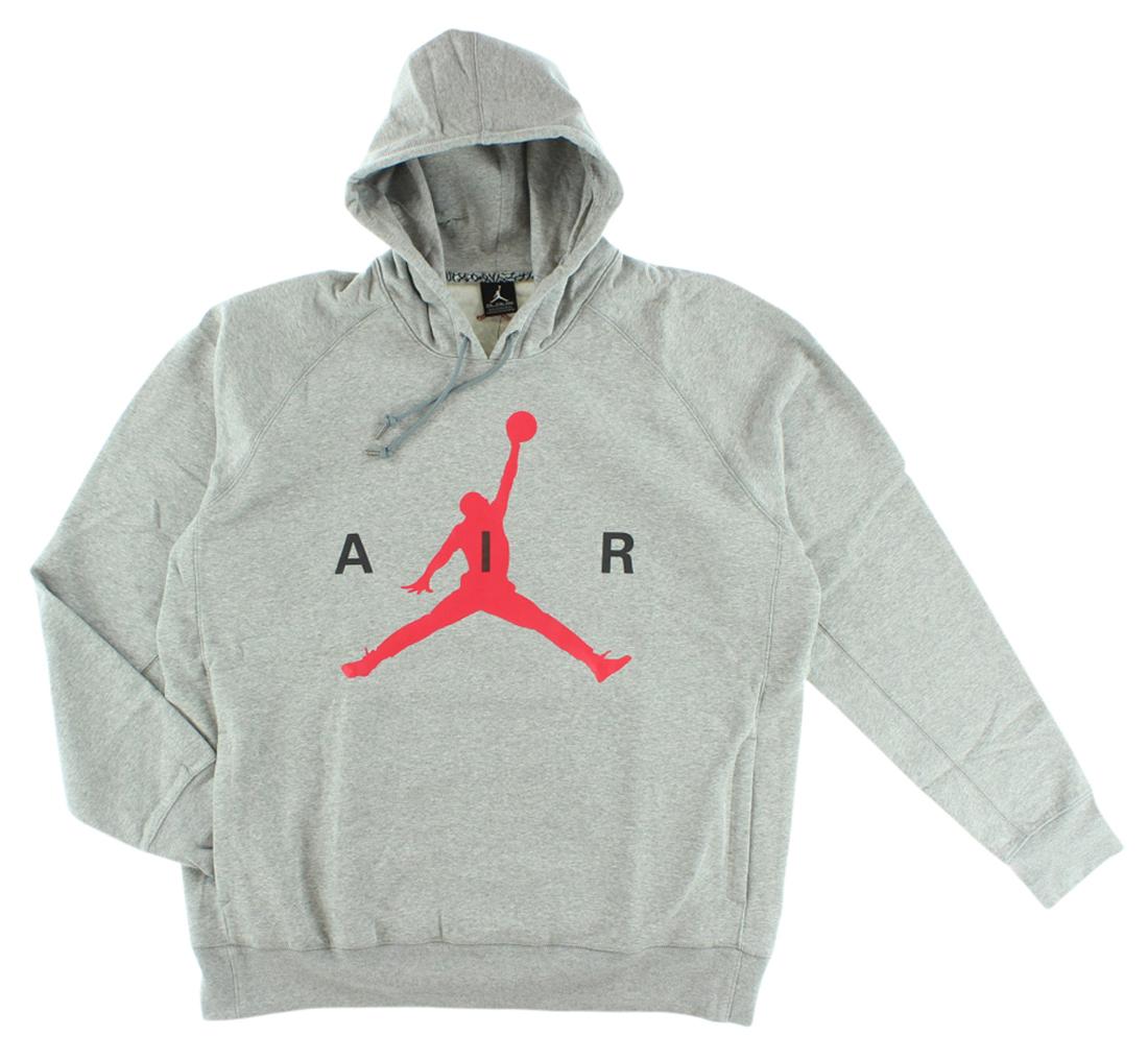 jordan mens air jordan air pullover hoodie grey ebay. Black Bedroom Furniture Sets. Home Design Ideas