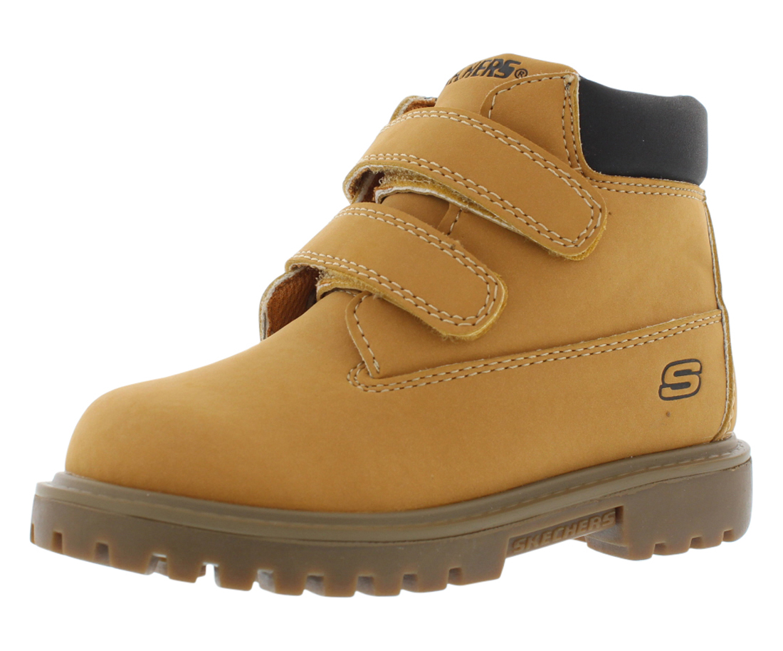 Skechers Double Strap 6 Boots Boy's Shoes Size