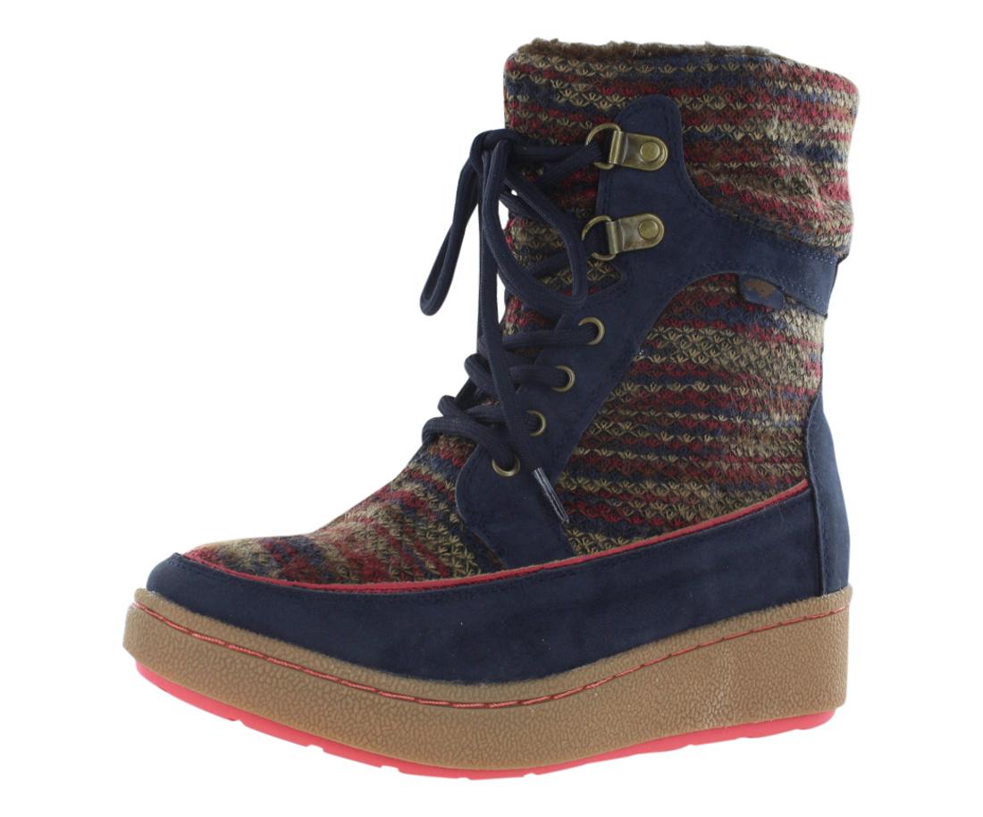 Rocket Dog Cray Horizon Knit-Hush Fabric Boots Women's Shoes