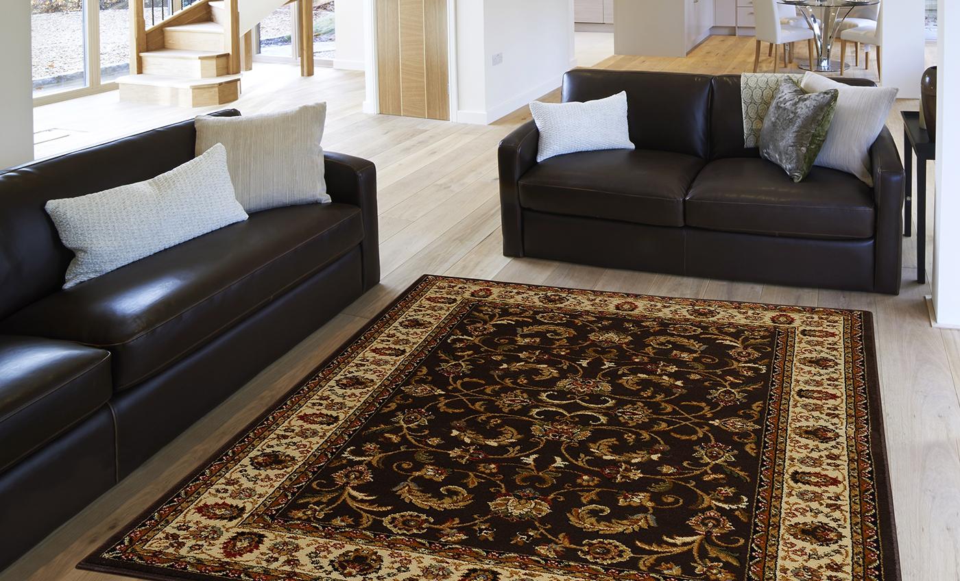 Traditional Persian Border Area Rug 5x8 Oriental Carpet