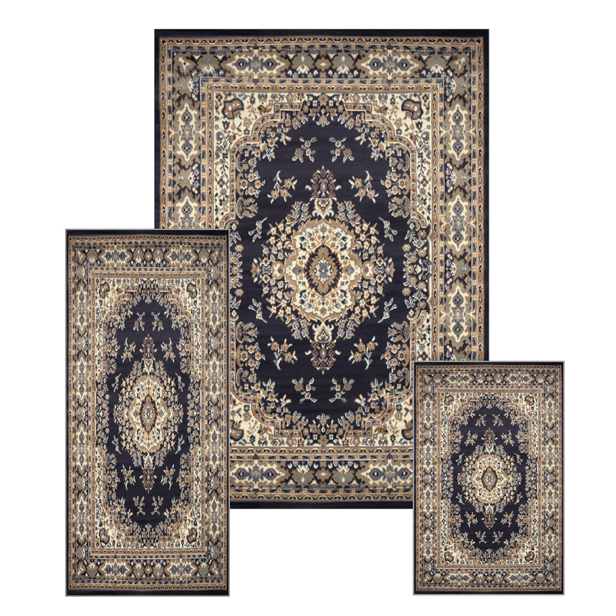 Traditional Medallion Persian 3 Pcs Area Rug Oriental