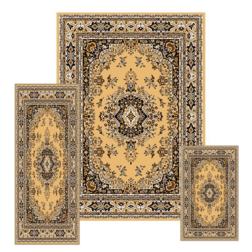 Traditional Medallion Persian 3 Pcs Area Rug Oriental