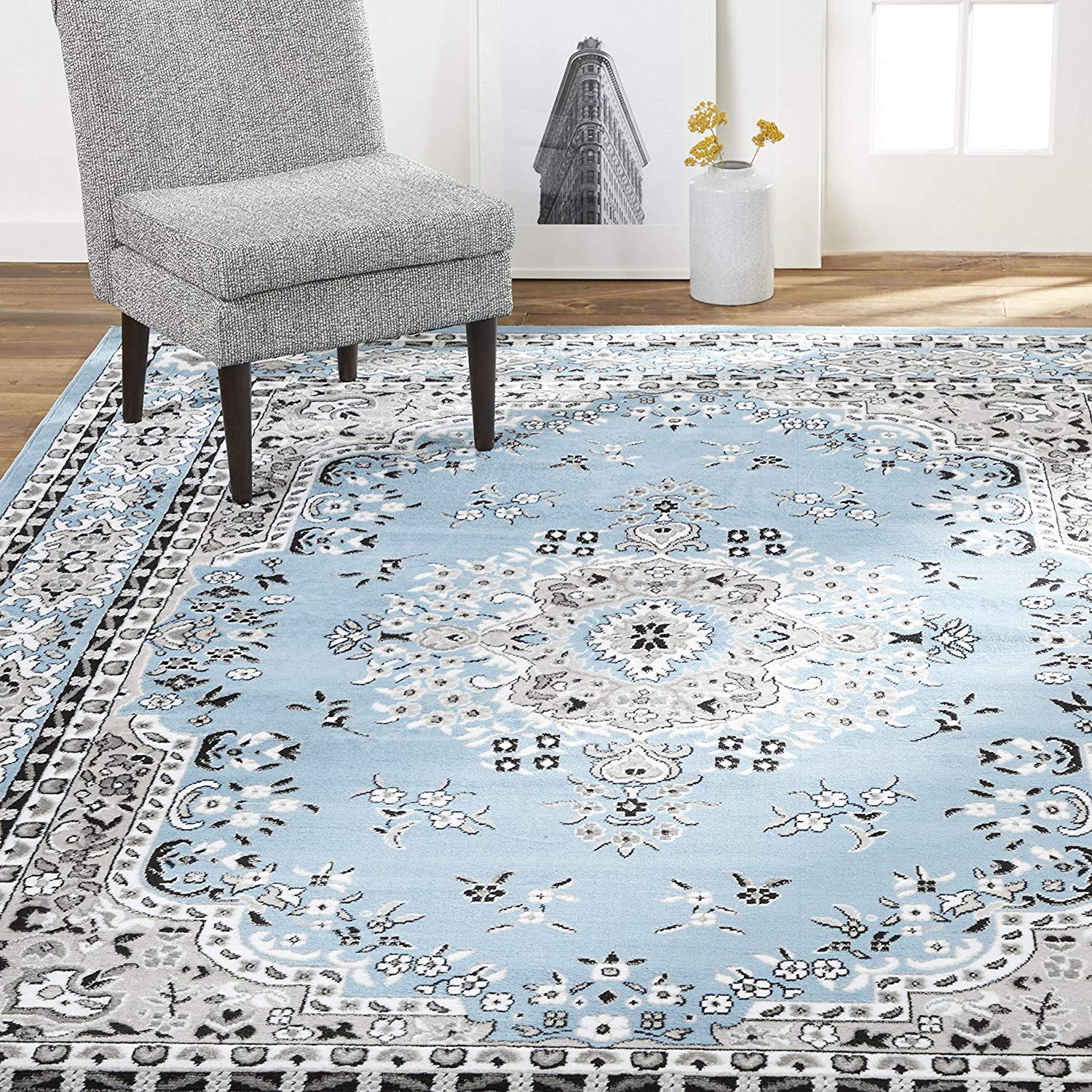 Large-Traditional-8x11-Oriental-Area-Rug-Persien-Style-Carpet-Approx-7-039-8-034-x10-039-8-034 thumbnail 8