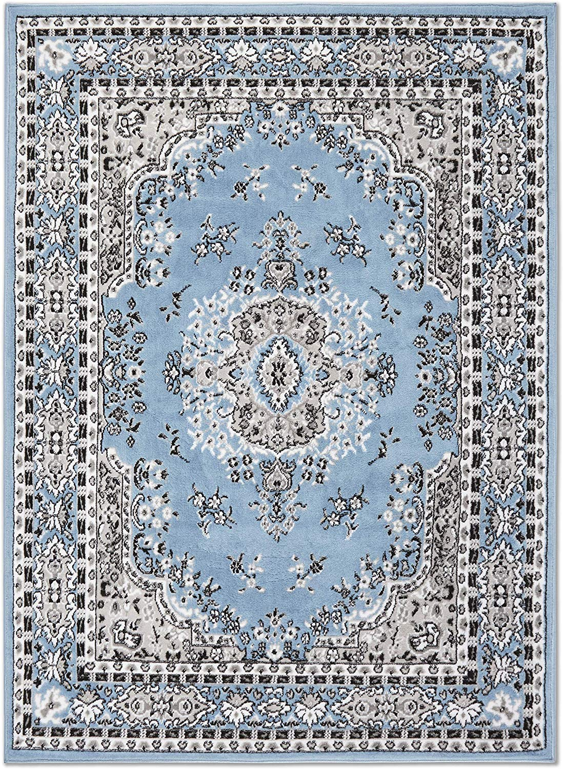 Large-Traditional-8x11-Oriental-Area-Rug-Persien-Style-Carpet-Approx-7-039-8-034-x10-039-8-034 thumbnail 9