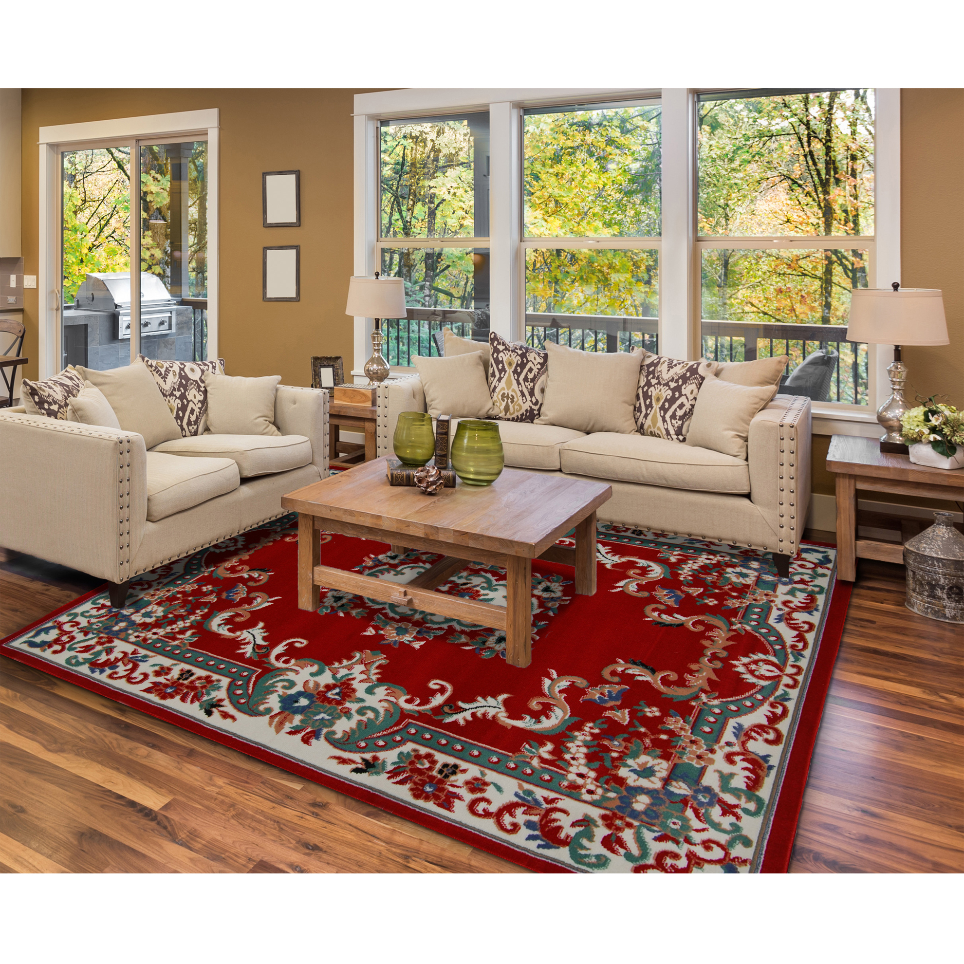 Rugs area rugs carpet flooring persian area rug oriental - Decorating with area rugs ...