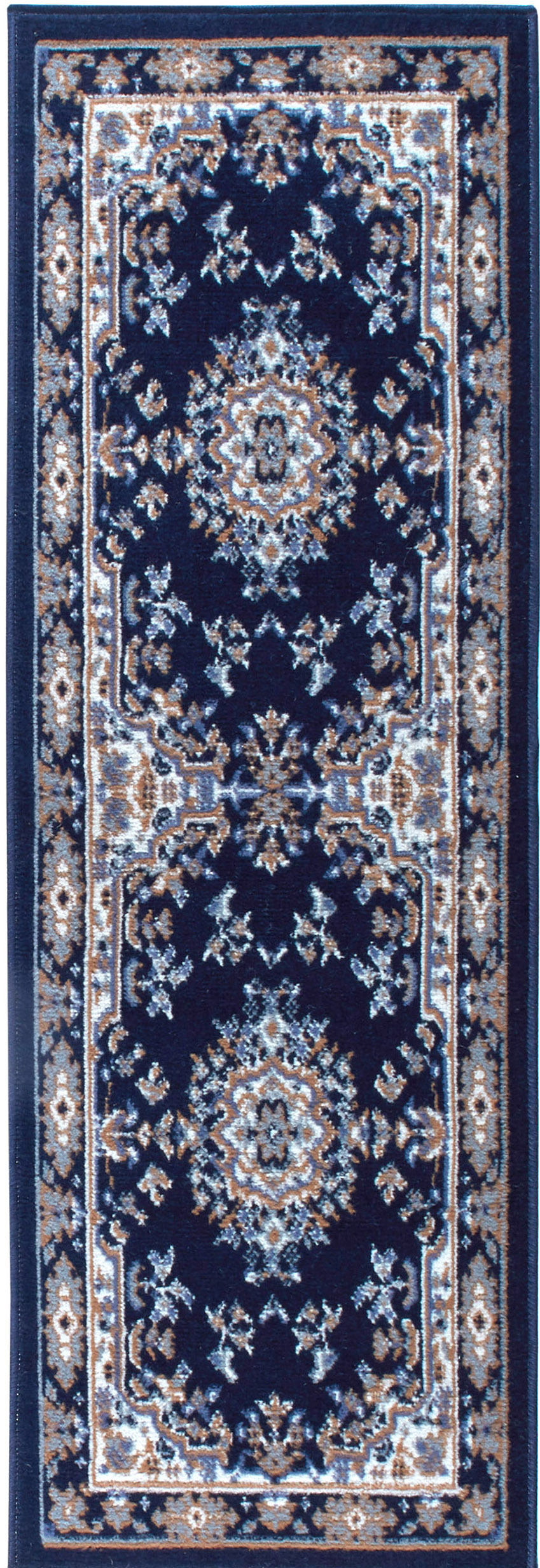 Traditional Medallion Navy Persian 3 Pcs Area Rug Oriental