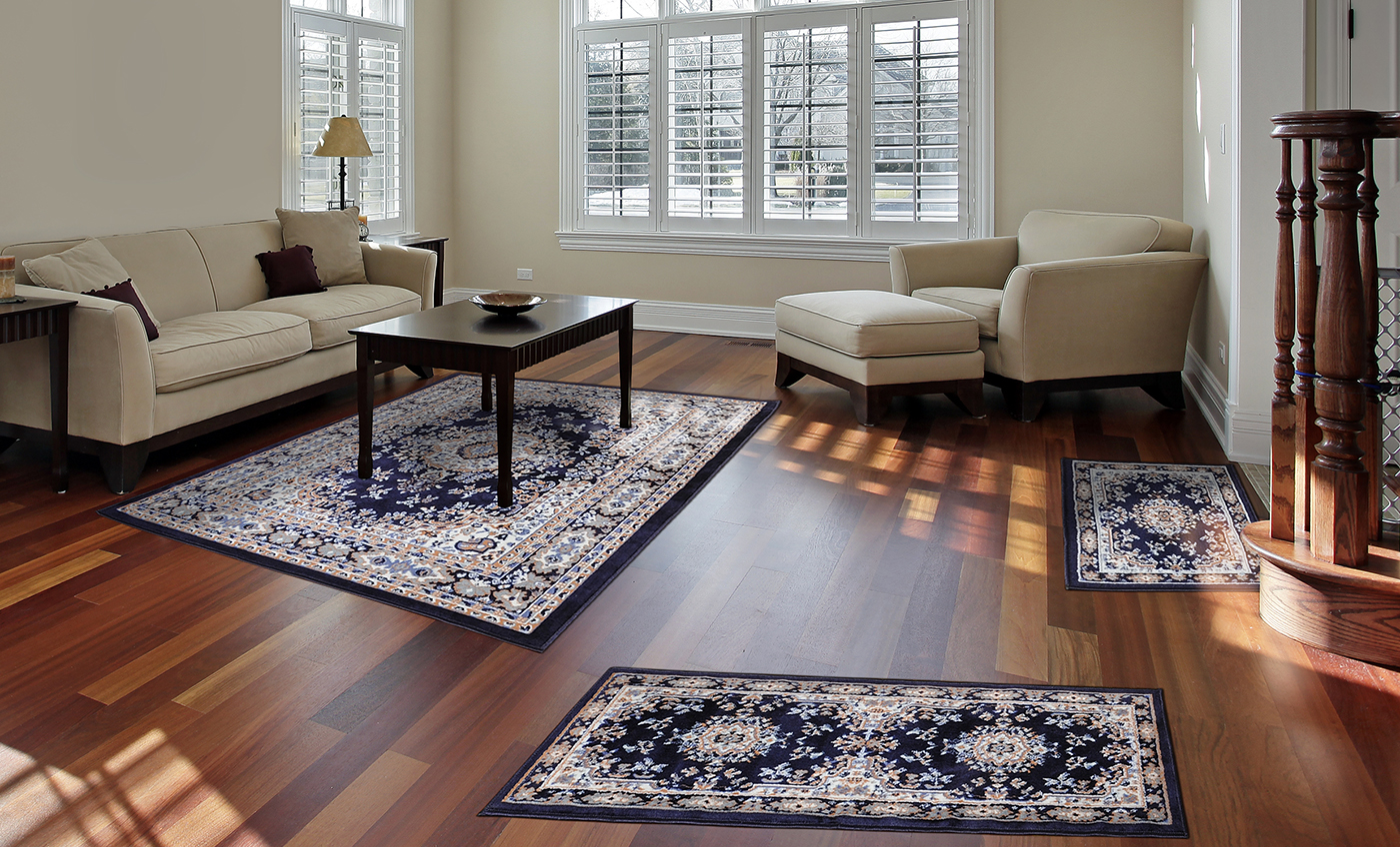 traditional medallion 3 pcs area rug 87782