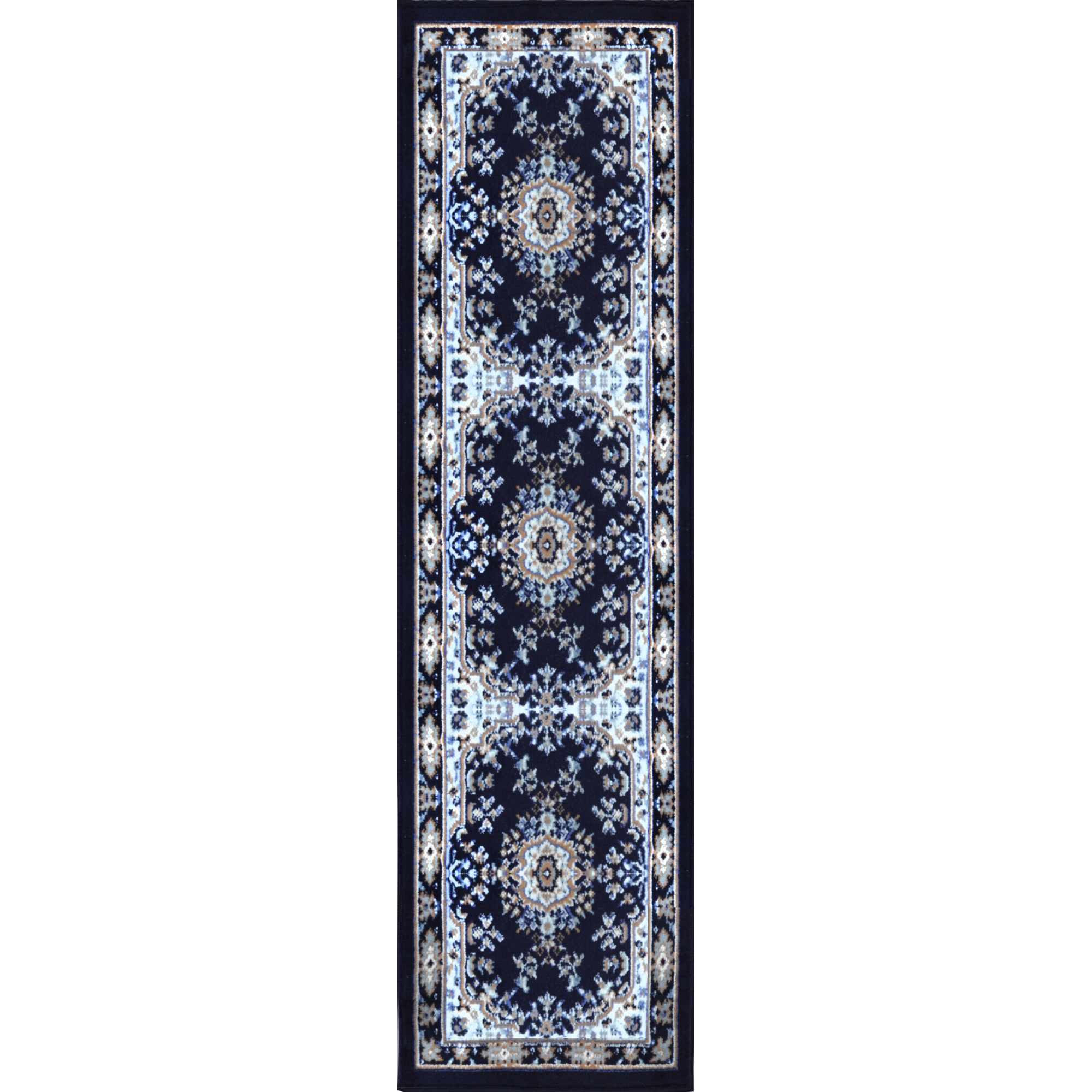 Traditional Oriental Medallion Rug 2x7 Persien Style