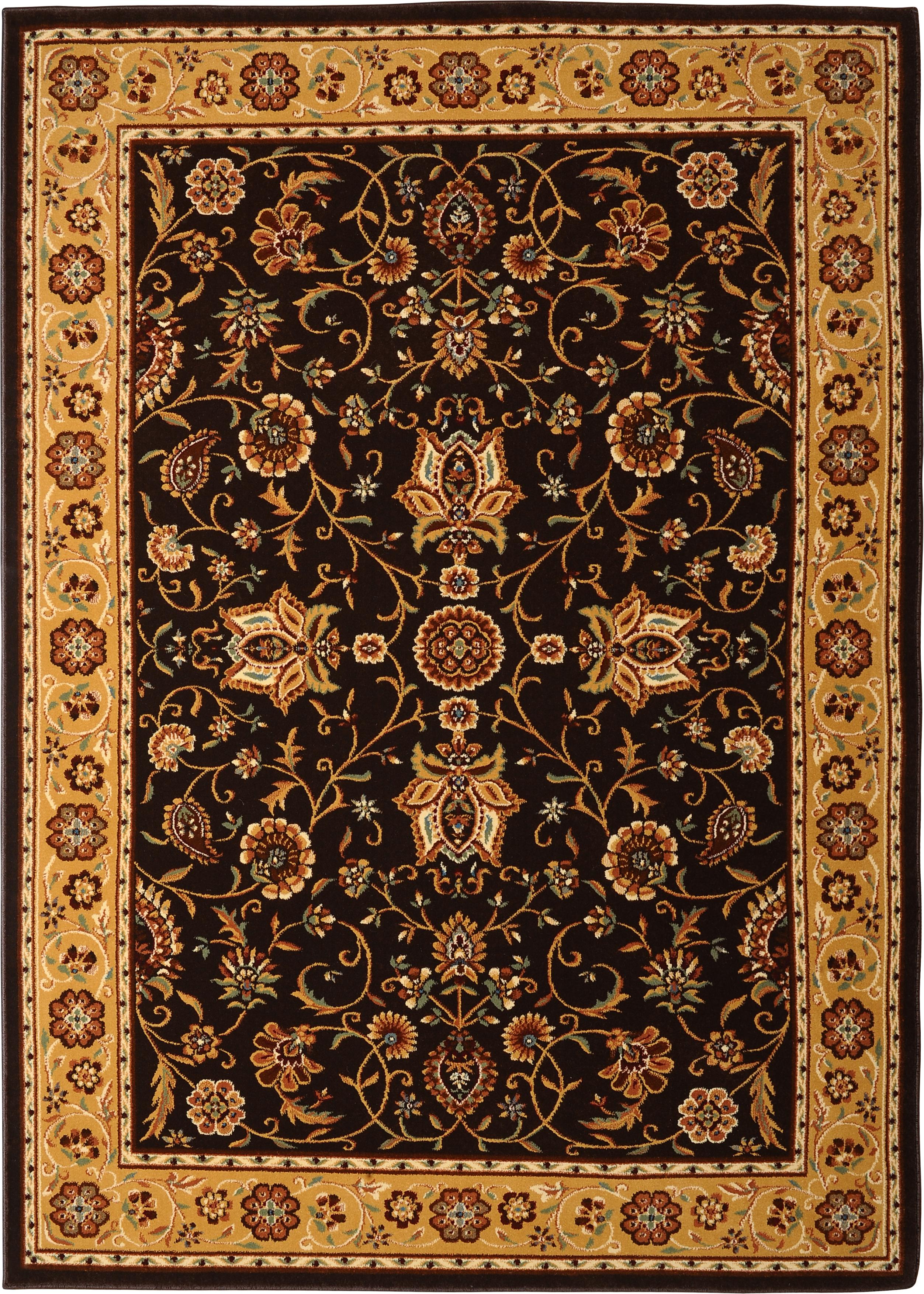 Brown Gold Persien Area Rug 6x8 Oriental Carpet 3207