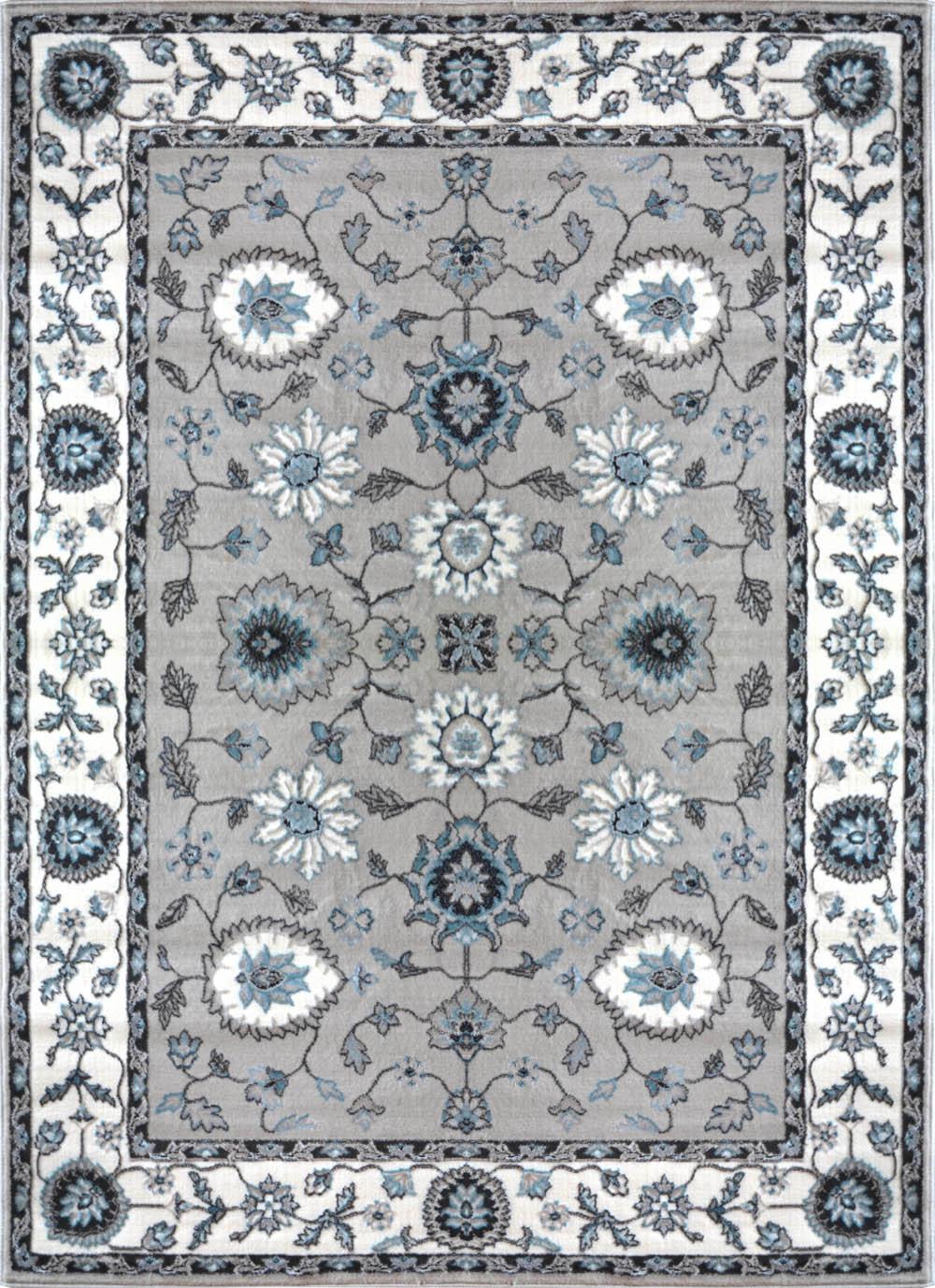 Traditional Beige Cream Carpet Petals Scrolls Floral Vines