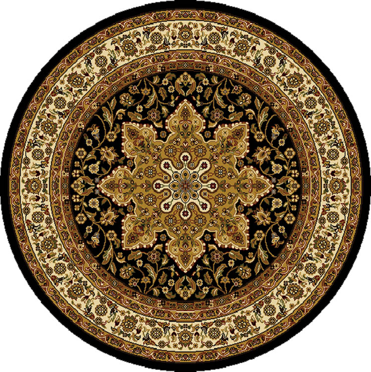 TRADITIONAL ROUND 5X5 ORIENTAL AREA RUG PERSIAN CARPET
