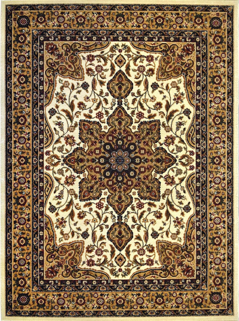 oriental black brown ivory red persian medallion area rug. Black Bedroom Furniture Sets. Home Design Ideas