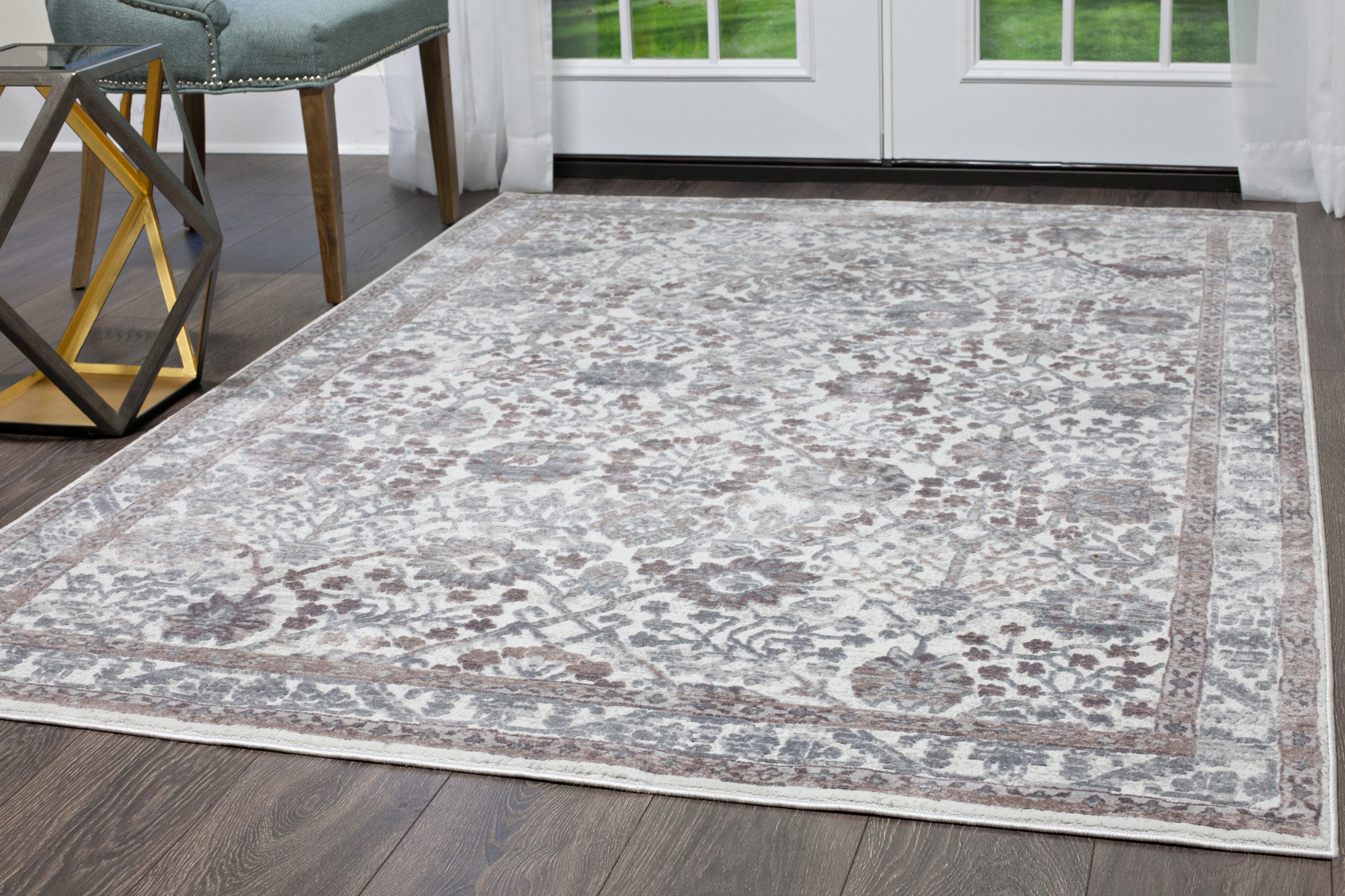 artisan miller nicole designer traditional ivory itm area carpet rouge rugs rug bordered fold