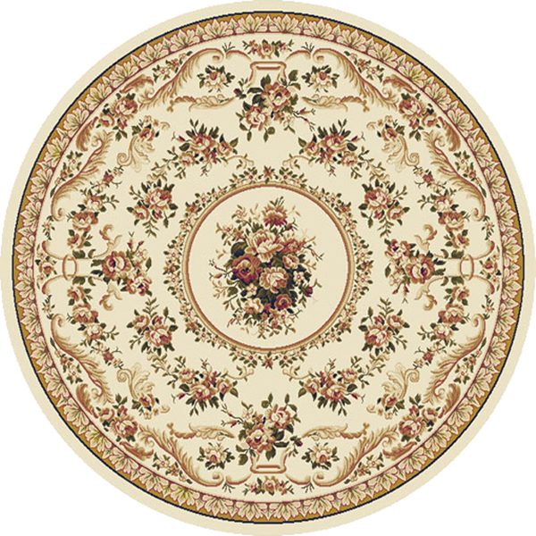 Transitional Oriental Area Rug 8x8 Floral Persien Round