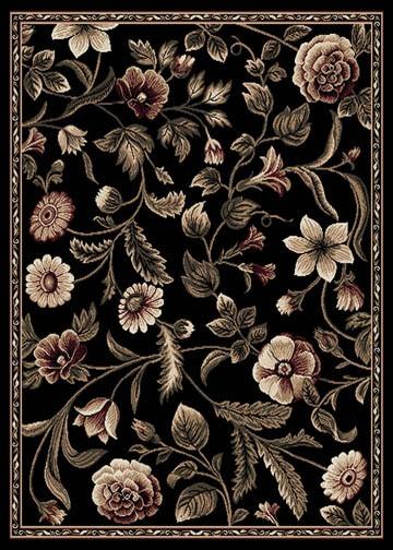 Floral Black Persien 6x8 Area Rug Oriental Carpet 029 Actual 5 2 X 7 2 643845537951 Ebay