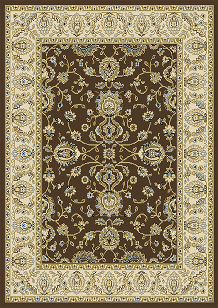 Traditional Oriental Vines Area Rug 5x8 Persian Border