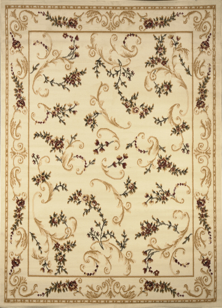 Transitional Floral Area Rug 5x7 Casual Vines Scrolls