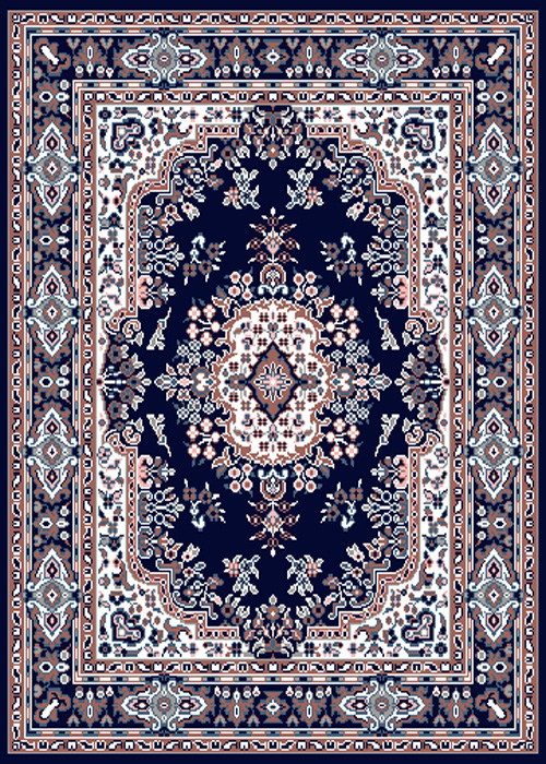 PERSIAN NAVY BLUE AREA RUG 8 X 11 ORIENTAL CARPET 69
