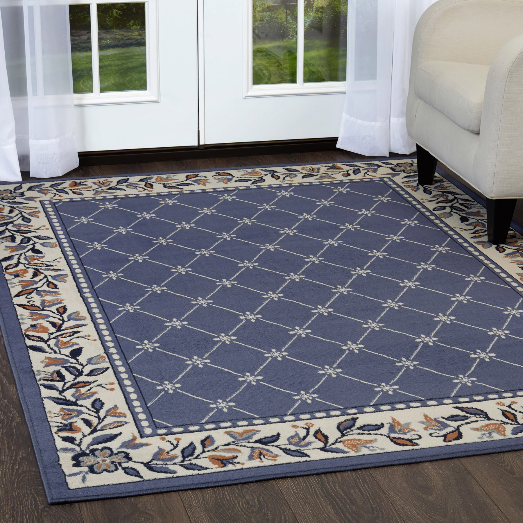 Details About Oriental Blue Area Rug Runner 2 X 8 Persien Carpet 15 Actual 1 10 X 7 3