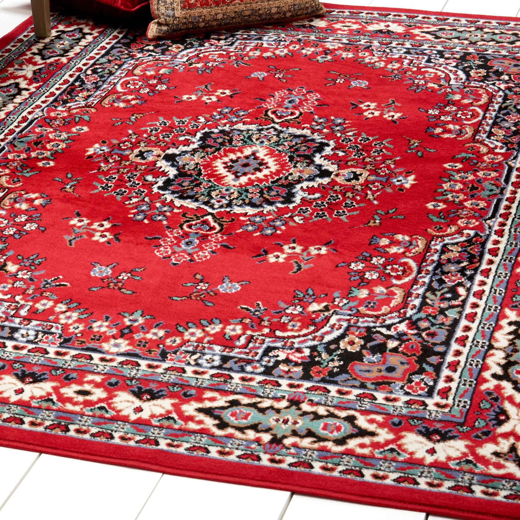 Persian Burgundy Area Rug 6 X 8 Oriental Carpet 69