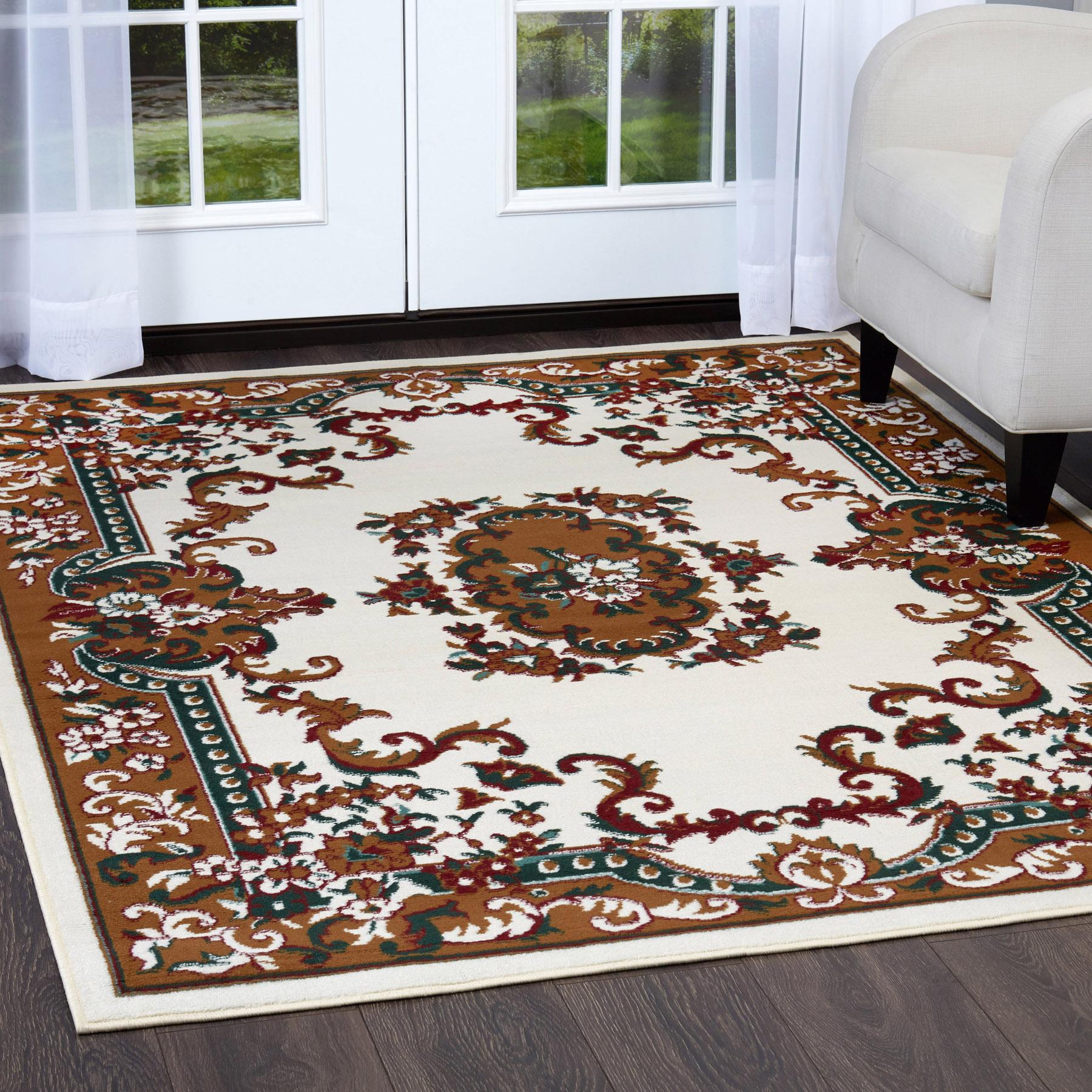 Oriental Cream Area Rug 4 X 6 Small Persian Carpet 83 Actual 3 7