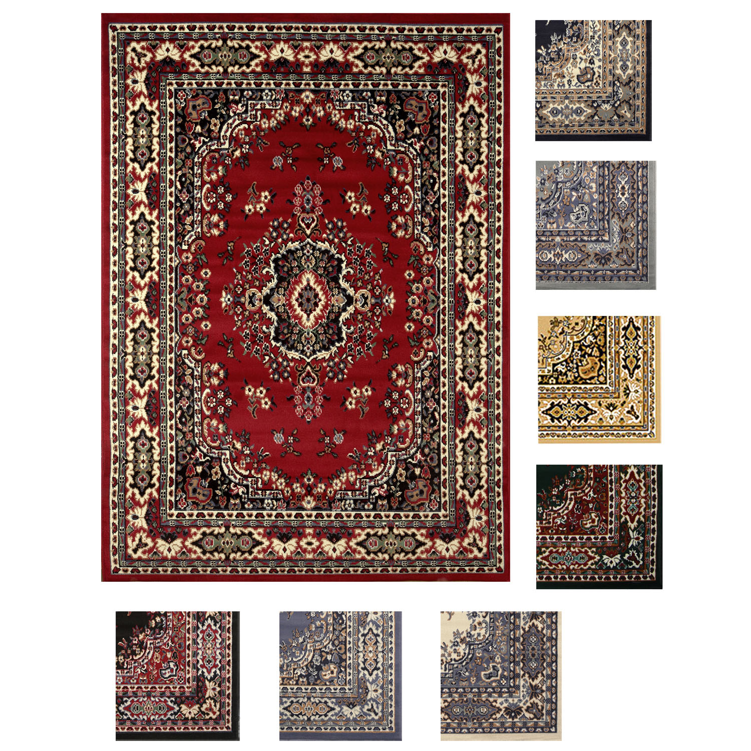 Large Traditional 8x11 Oriental Area Rug Persian Style