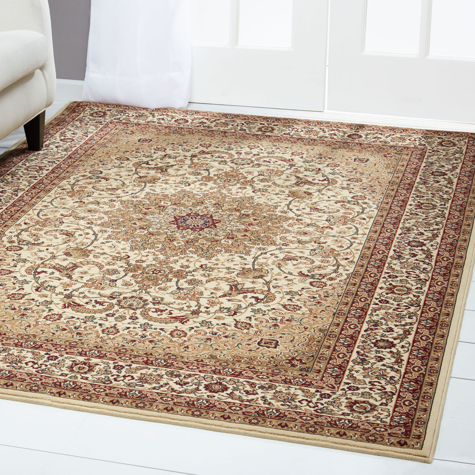 Free S H Ivory Persian Area Rug 13 X 16 Huge Oriental 1 Actual 12