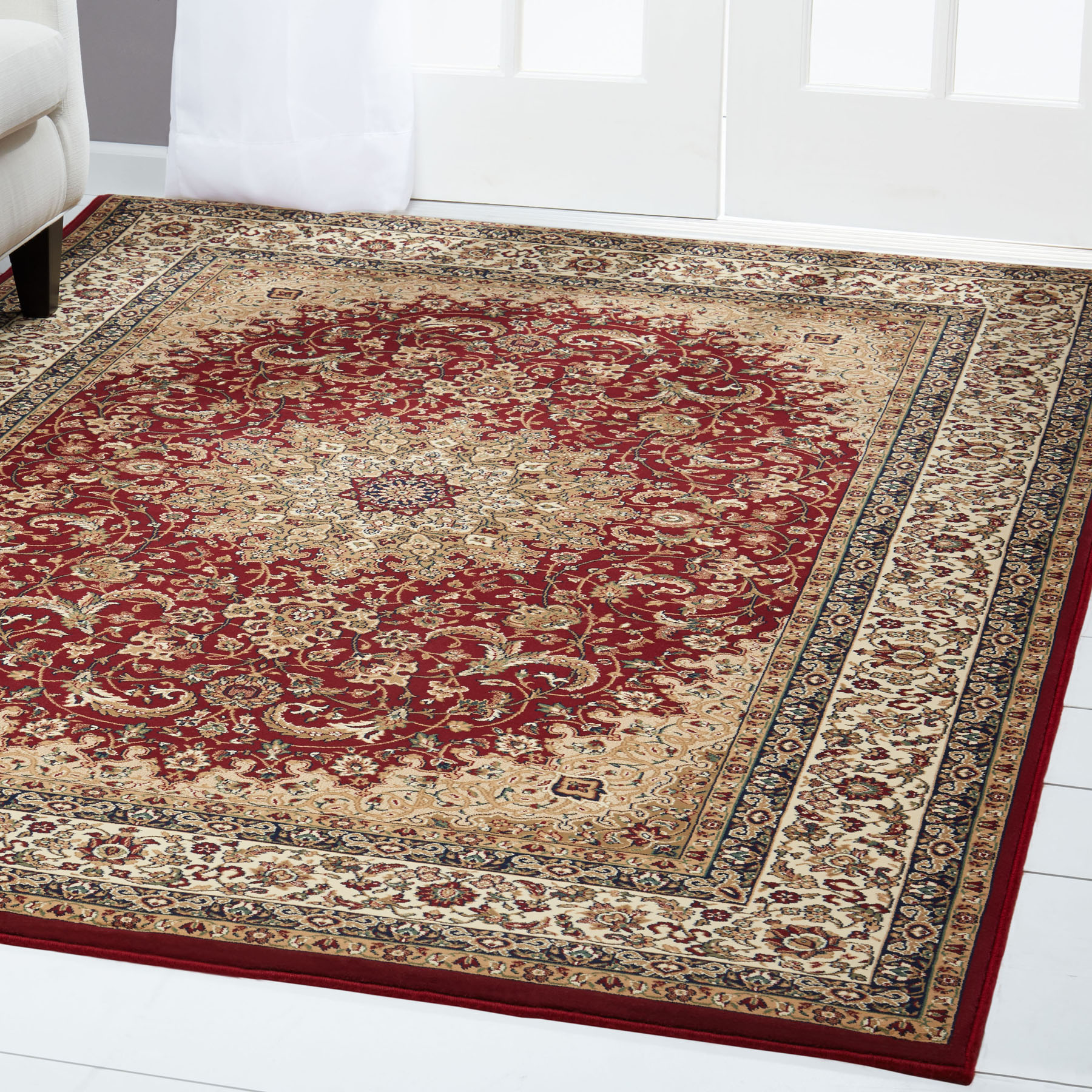 Free S H Red Persian Area Rug 8 X 11 Oriental Carpet 1 Actual 7