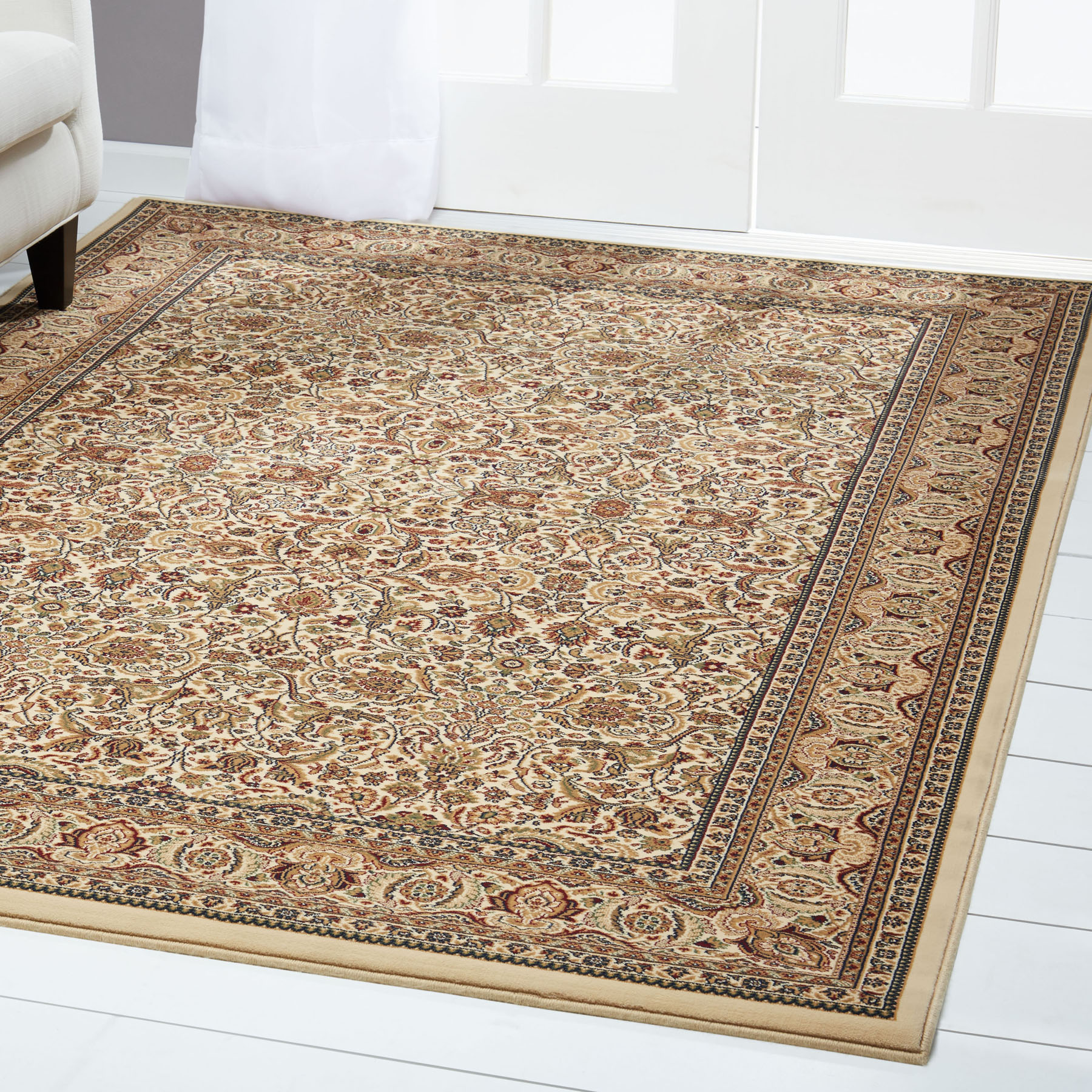 Free S H Ivory Persian Area Rug 4 X 6 Oriental Carpet 2 Actual 3