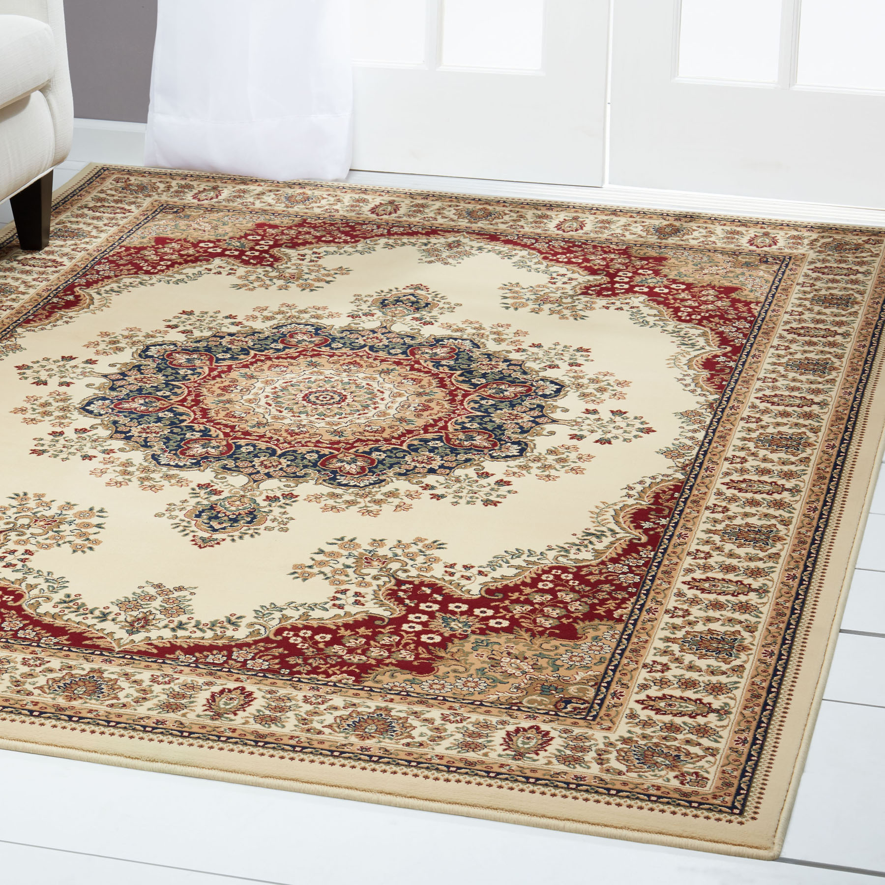 Free S H Ivory Persian Area Rug 2 X 4 Oriental Carpet 9 Actual 1