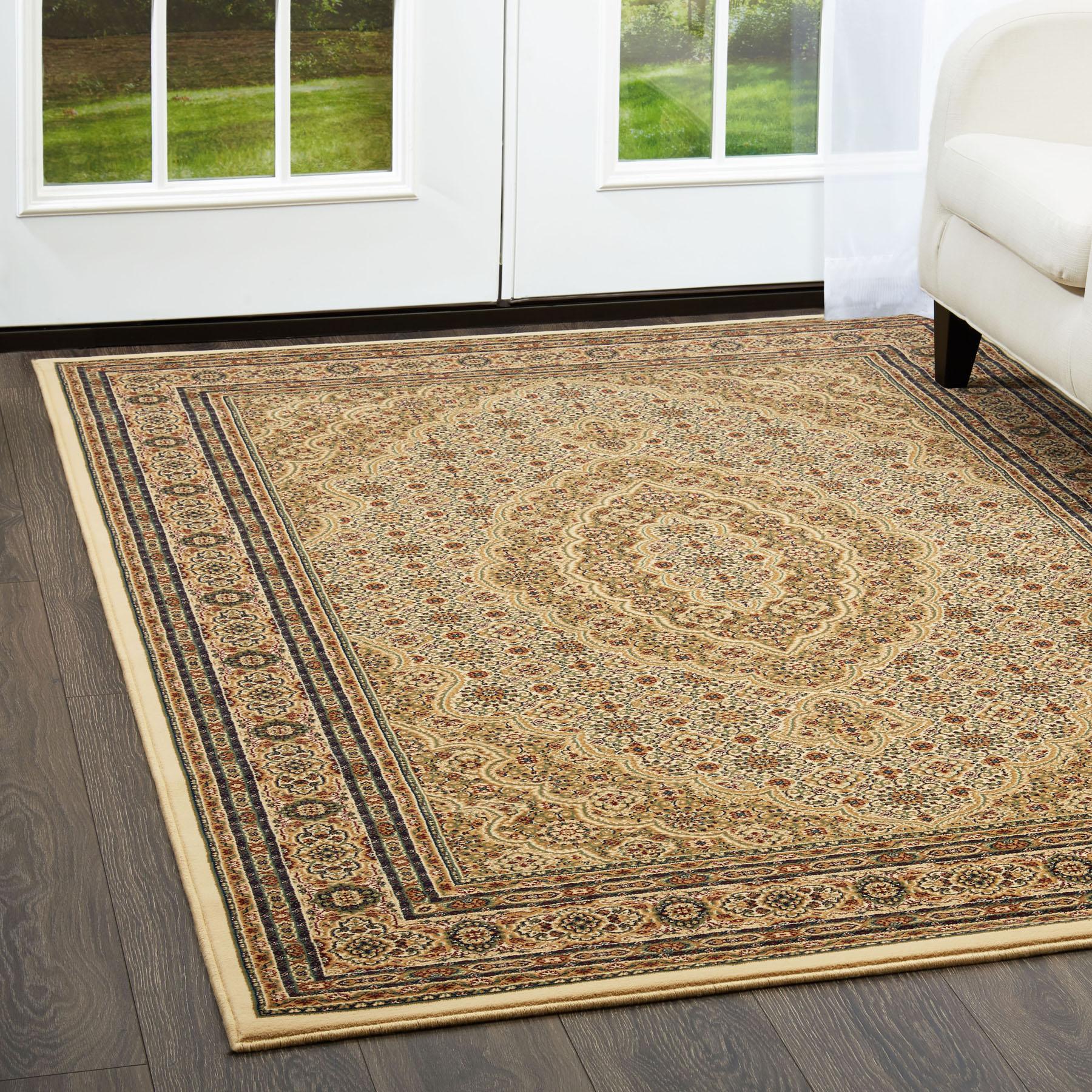 Free S Amp H Ivory Oriental Carpet 6 X 8 Persian Area Rug 9