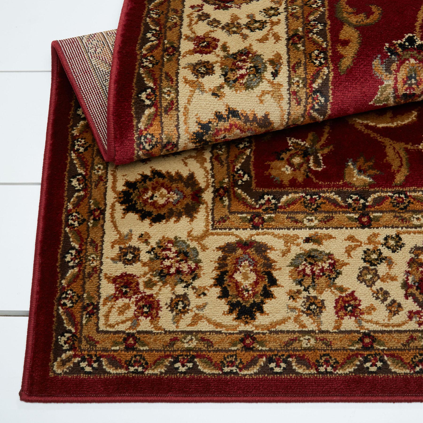 Persian Red Cream Area Rug 8x11 Oriental Carpet 08