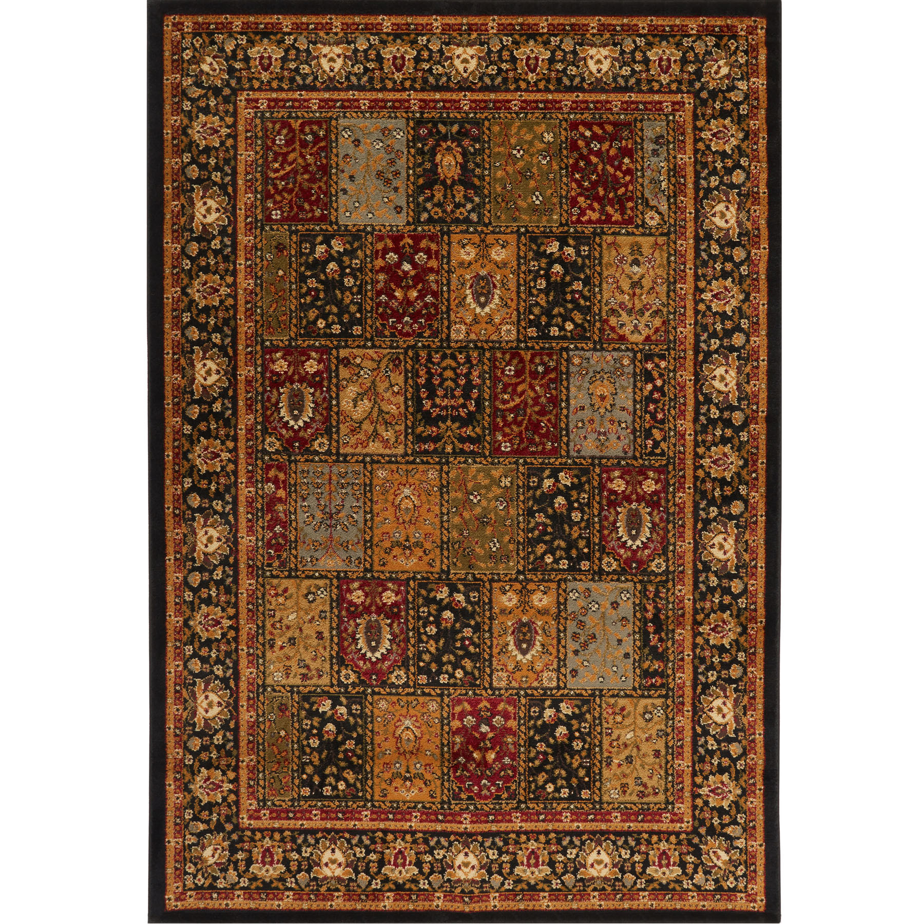 traditional burgundy black beige floral area rug persian. Black Bedroom Furniture Sets. Home Design Ideas