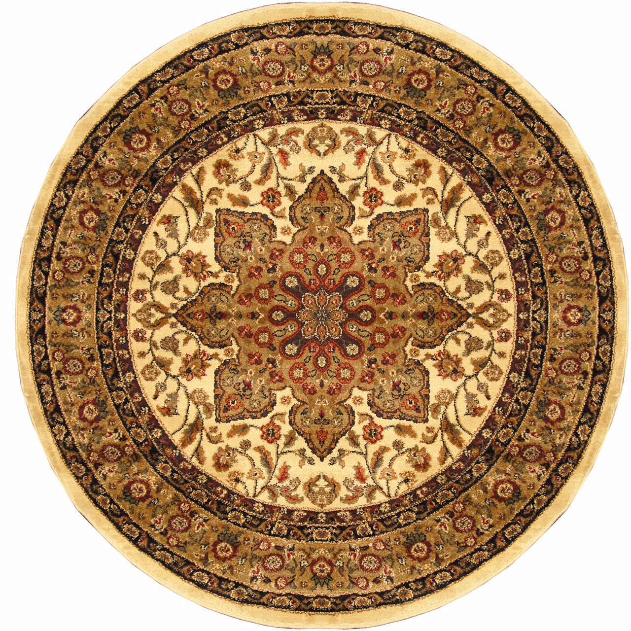 traditional round 5x5 oriental area rug persian carpet - actual 5