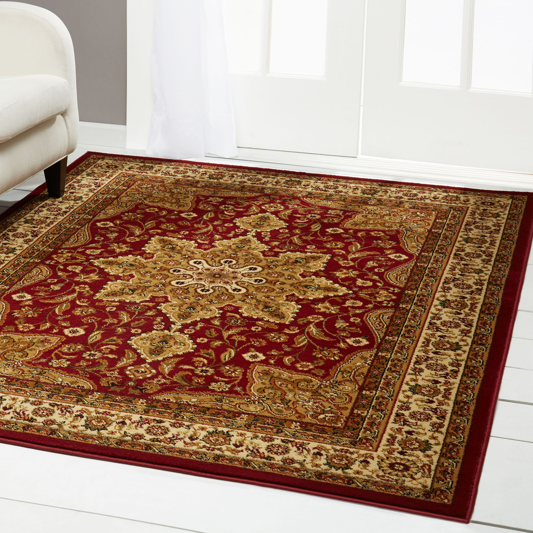 Burgundy Red Oriental Area Rug 4 X 6 Small Persian 83 Actual 3 6