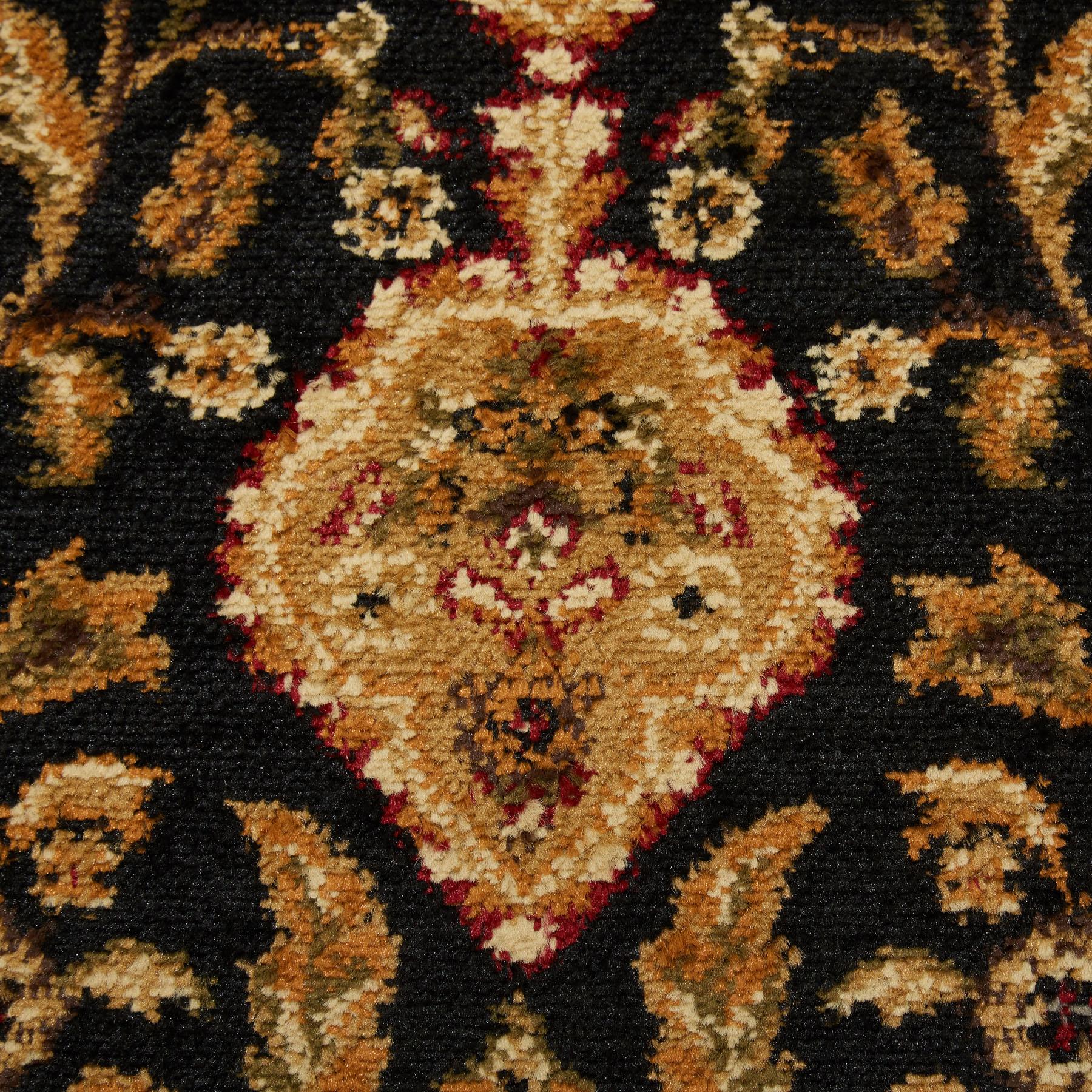 Black Oriental Area Rug 4X6 Small Persian Carpet 83