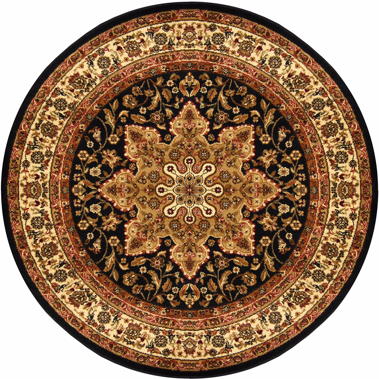 Traditional Round 5x5 Oriental Area Rug Persien Carpet