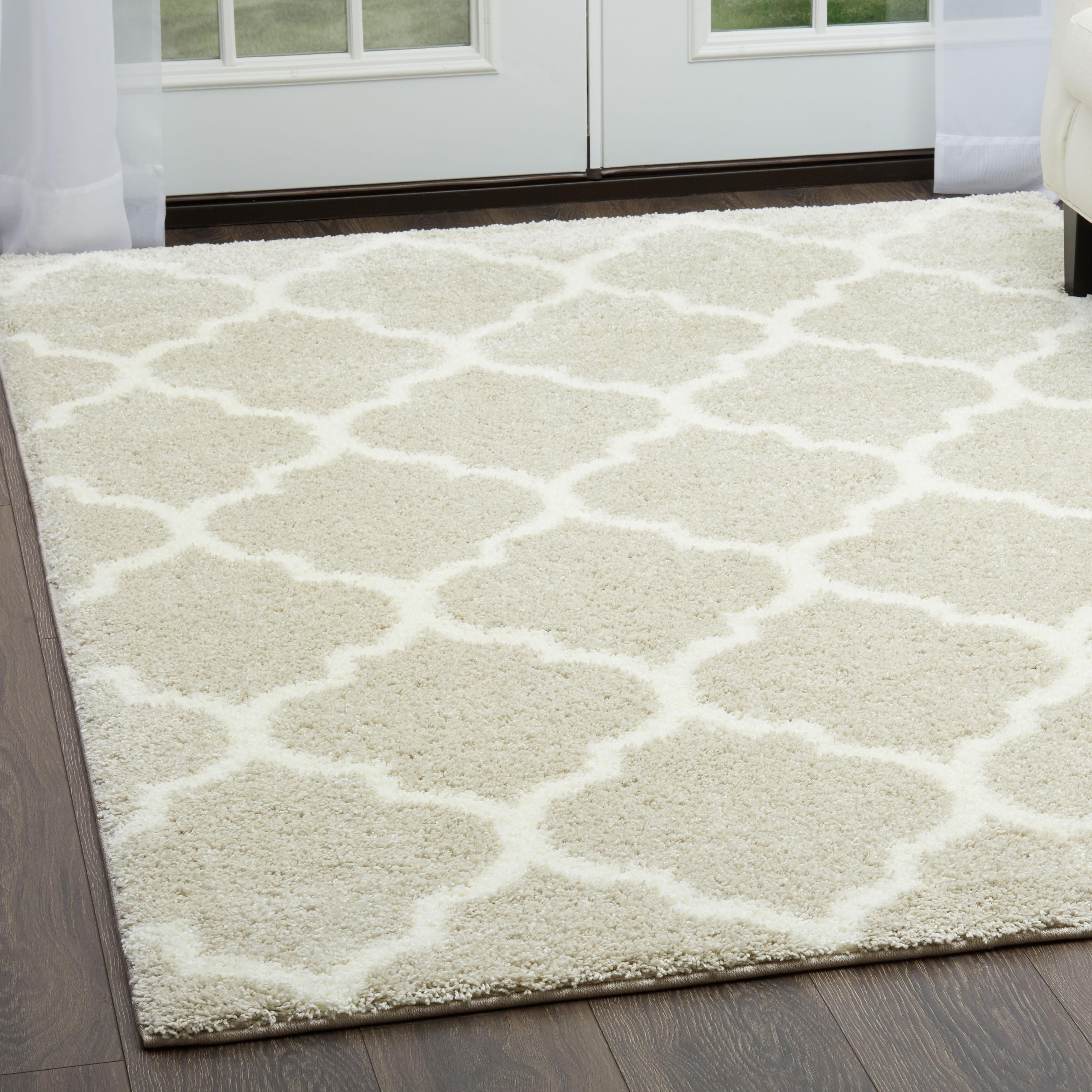 Modern Quatrefoil Moroccan Trellis Lattice Floor Decor Carpet - Www floordecor com