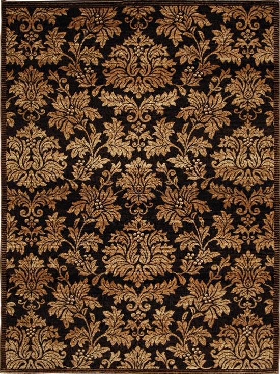 Damask Brown Gold Area Rug 8x10 Persian Carpet 1000