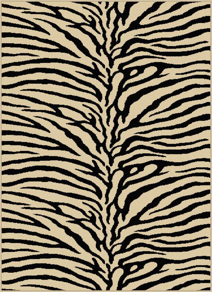 Ivories Exotic Skin Animal Prints Area Rug Stripes Animal