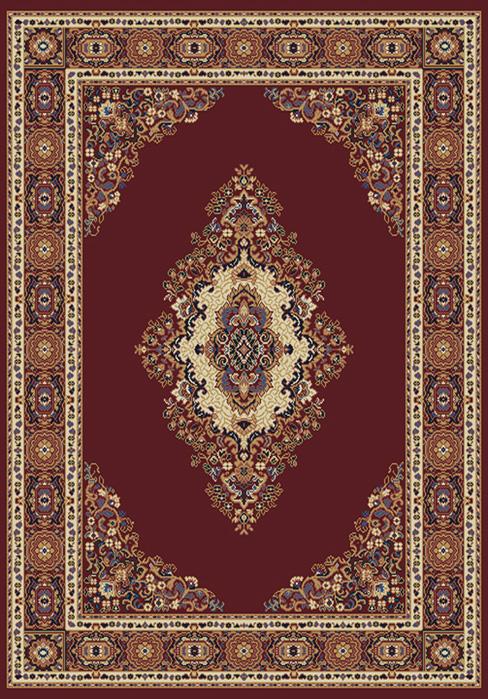 TRADITIONAL Burgundy MULTI-COLOR Persian CARPET Medallion