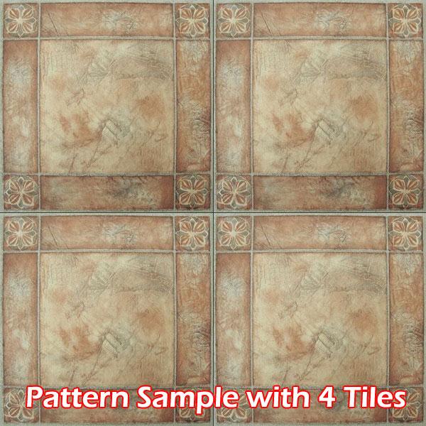 Marble Stone Pattern Self Adhesive Peel N Stick Vinyl Floor Tile 20