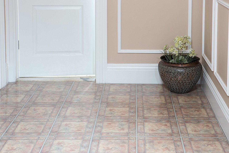 Marble stone pattern self adhesive peel n stick vinyl floor tile marble stone pattern self adhesive peel n stick dailygadgetfo Choice Image