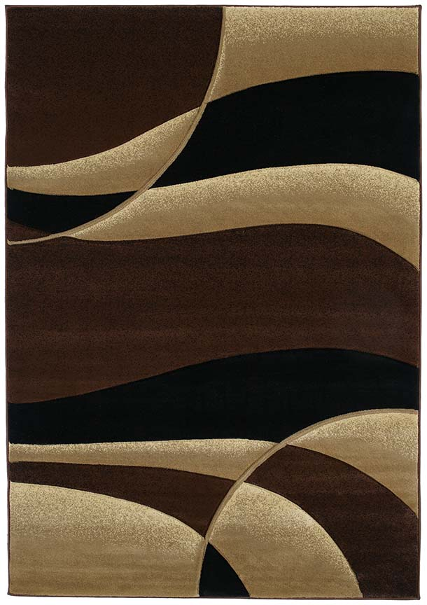 Absract Brown Contemporary 8x11 Area Rug Waves Carpet Actual Size 7 10 X 10 6 644730565264 Ebay