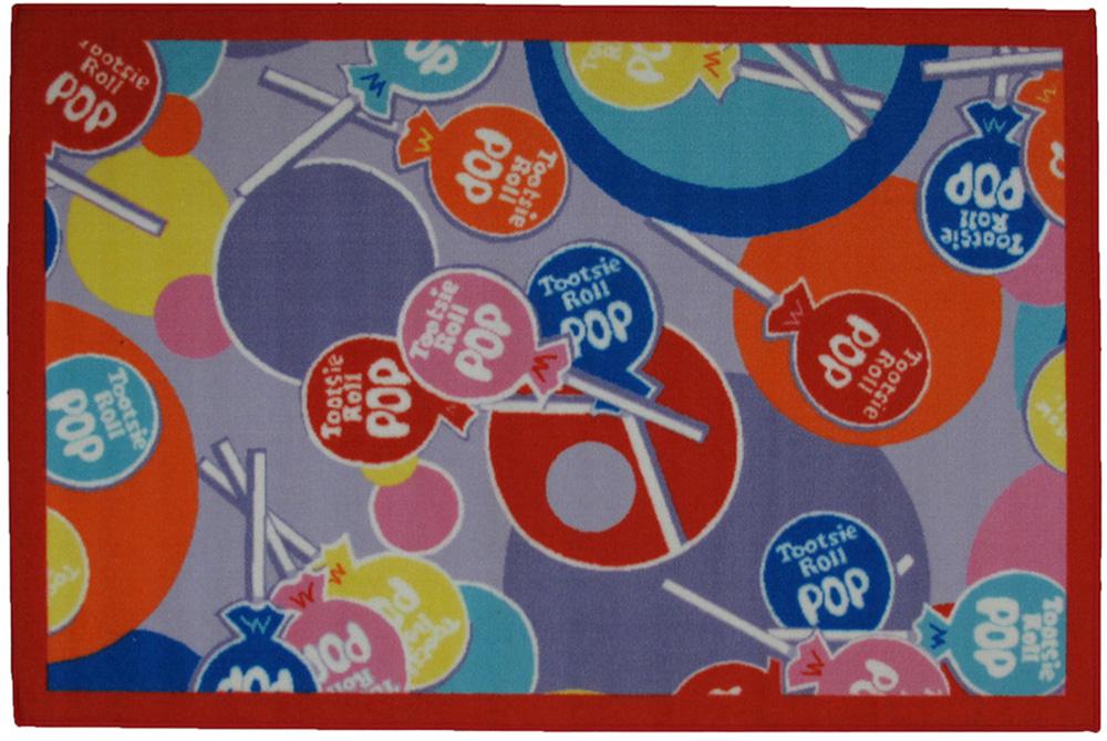 Multi-Color Circles Lollipops Candies Contemporary Area Rug Geometric TR-02