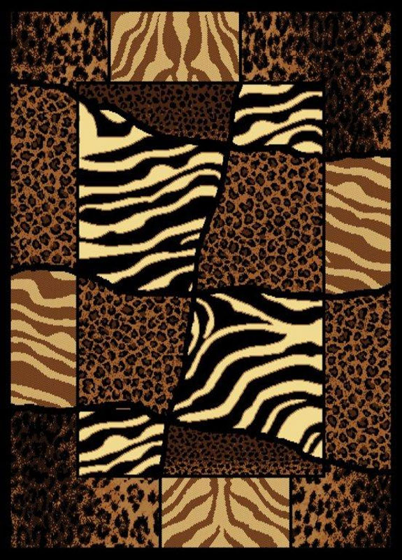Exotic Safari Multi Zebra Carpet 5x8 Animal Print Area Rug