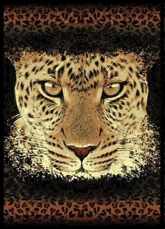 Safari Black Leopard Carpet 5x8 Animal Print Area Rug