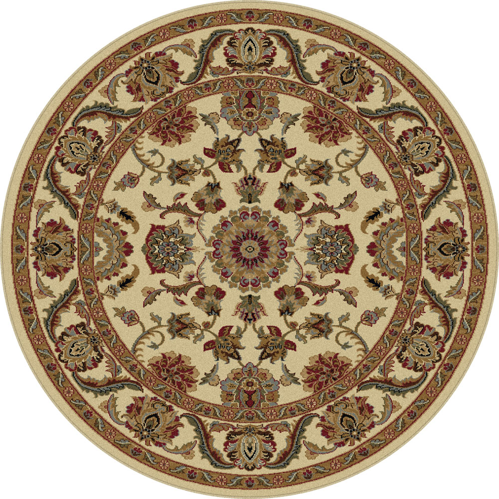 Area Rug Persian 9x12 Oriental Carpet Ivory Wool: Ivory Traditional Oriental Bordered Area Rug Bud Circles