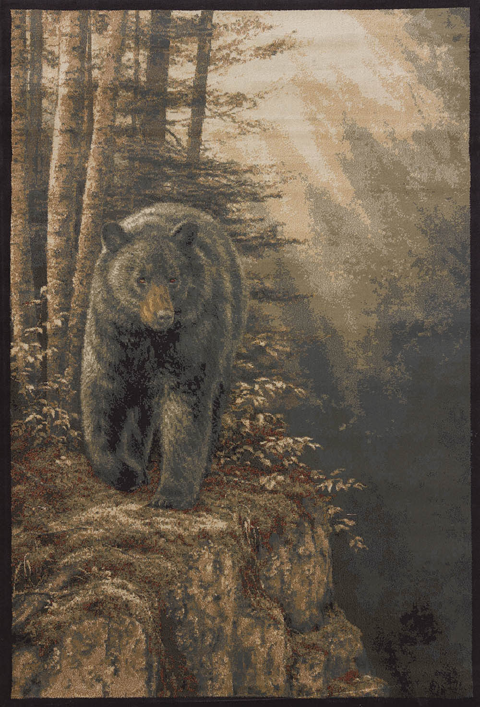 Brown Ivory Lodge Carpet Nature Woods Animal Sunshine Bear